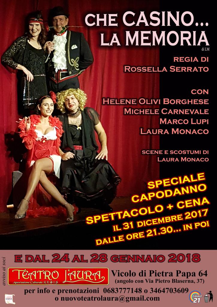 Capodanno al Teatro L'Aura con Che casino la memoria