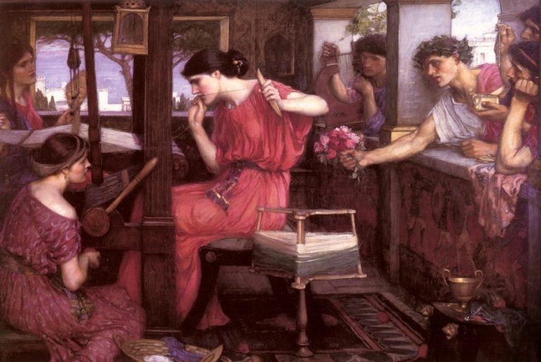 Penelope e i suoi pretendenti – John William Waterhouse