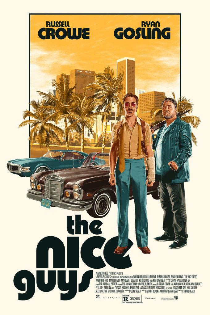 """""""The Nice Guys"""": una strana coppia di detective in una L.A. glamour e pop"""