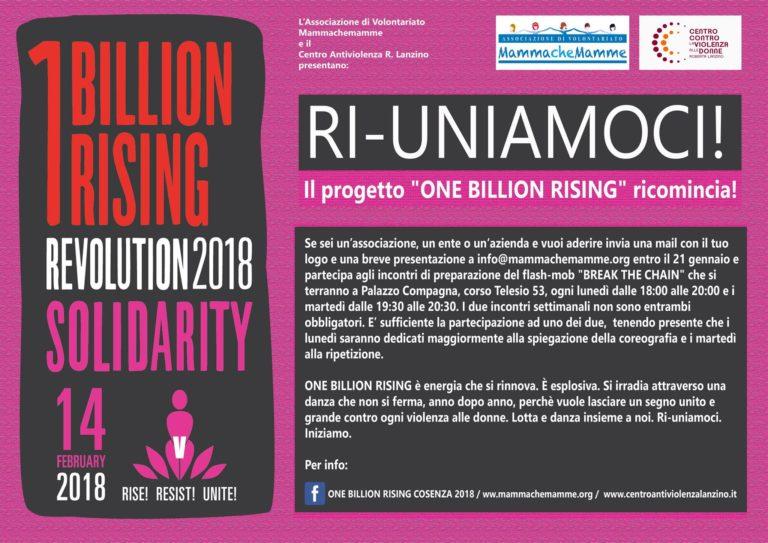 One Billion Rising 2018 a Cosenza – Tutte le informazioni per aderire
