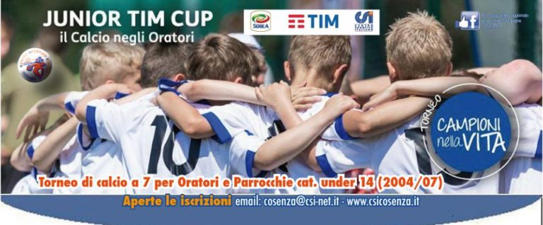 Csi Cosenza – aperte le iscrizioni per l'edizione 2018 della Junior Tim Cup