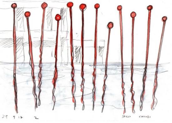 Alberto Timossi. SPILLI | Installazione ambientale nel Lago Ex Snia con sistema sonoro di Simone Pappalardo | 17 febbraio 2018 | Lago Ex Snia Roma