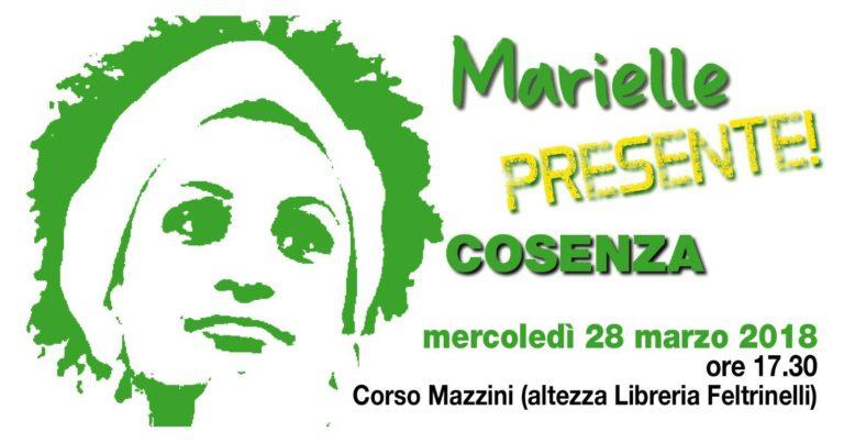 Movimento Marielle Presente Cosenza – Mercoledì 28 marzo in piazza per chiedere giustizia