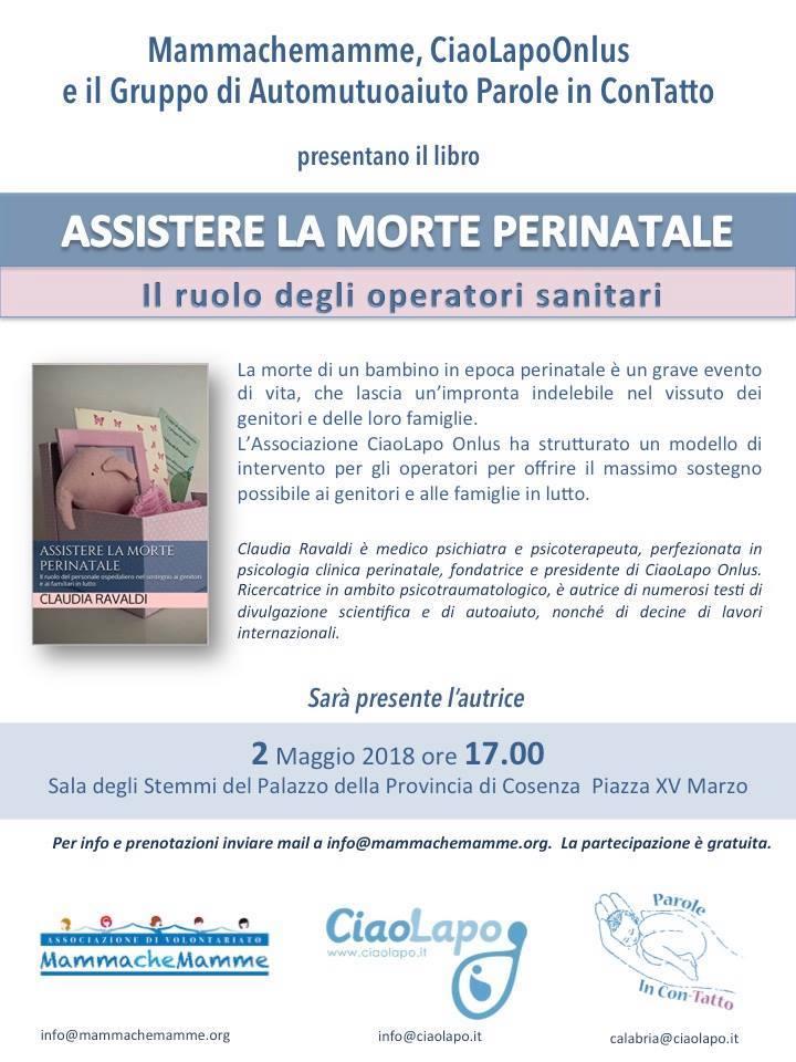 Assistere la morte perinatale. Il ruolo degli operatori sanitari – A Cosenza Claudia Ravaldi