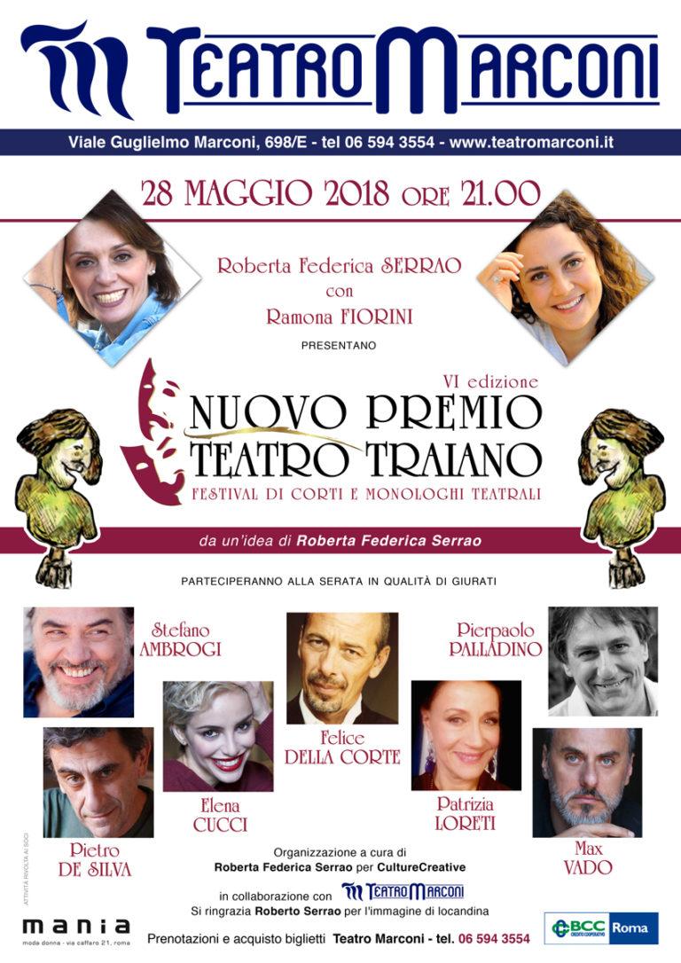 VI edizione Nuovo Premio Traiano al Teatro Marconi