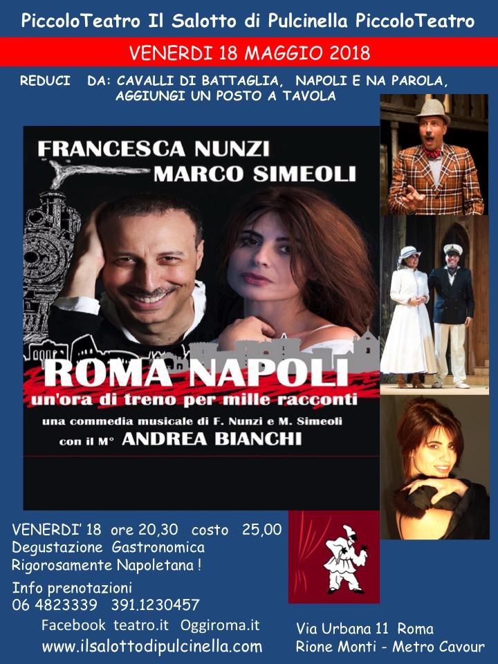 Napoli e Roma protagoniste assolute al Piccolo Teatro Salotto di Pulcinella