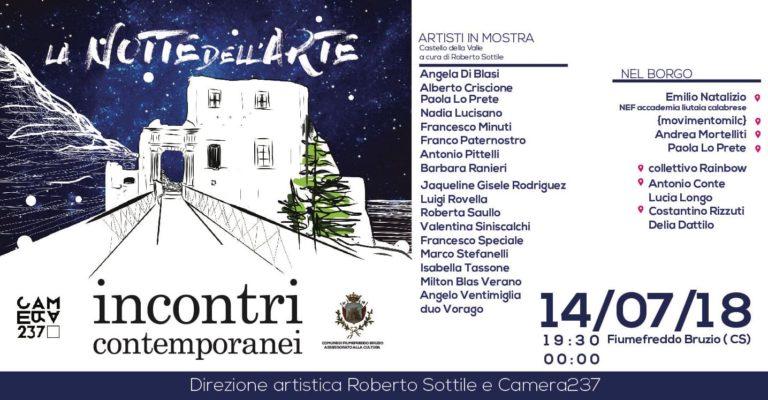 LA NOTTE DELL'ARTE – INCONTRI CONTEMPORANEI direzione artistica Roberto Sottile e Camera 237