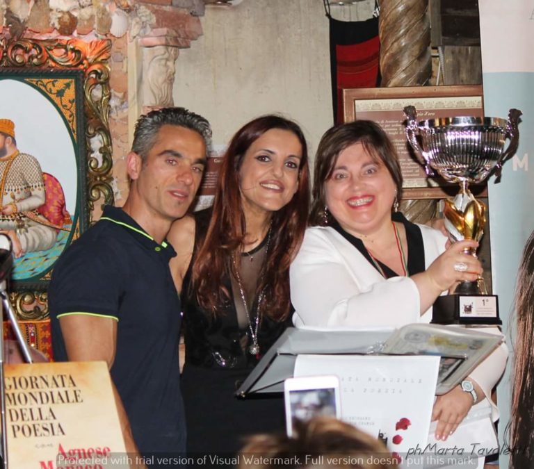 Agnese Monaco e la terza edizione della giornata mondiale della poesia 100TPC e Read a poem to a child a Roma 29/09/18.