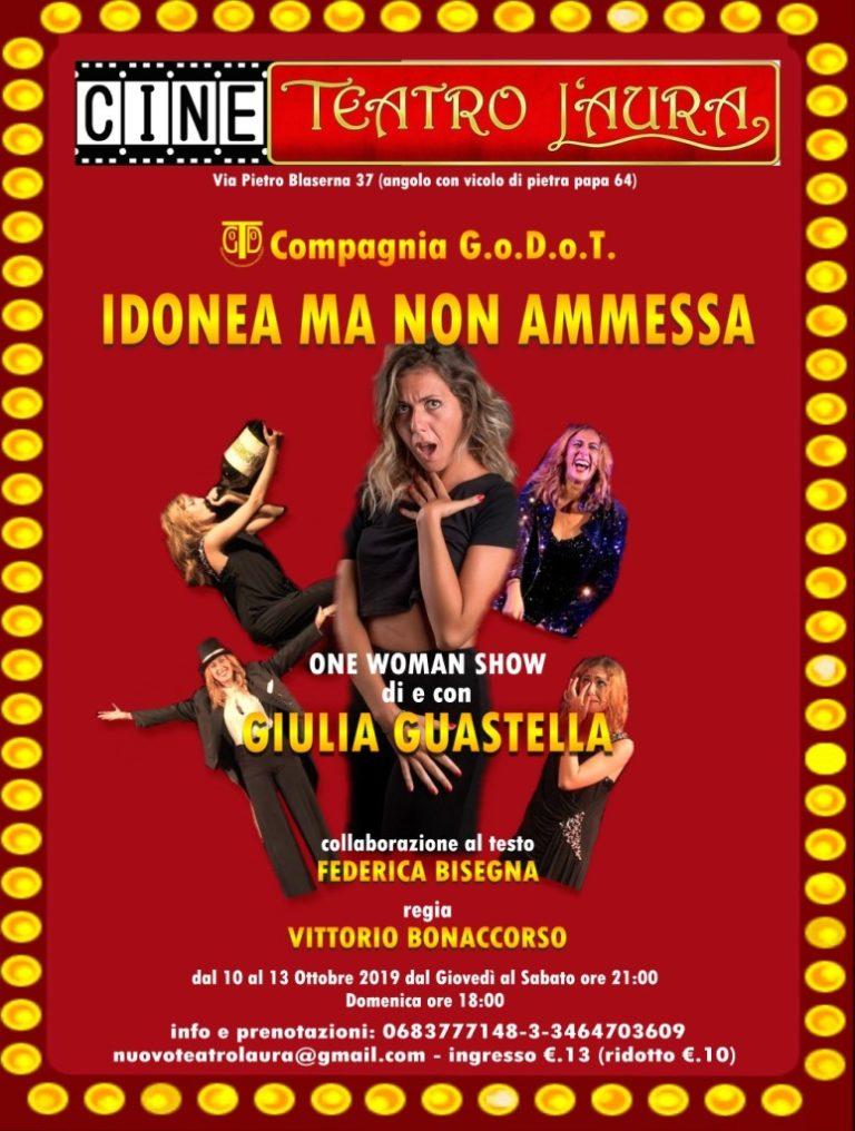 CineTeatro L'Aura – IDONEA MA NON AMMESSA – dal 10 al 13 ottobre 2019