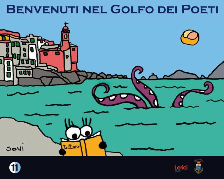Carlo Bacci, l'artista della nuova cartellonistica di Lerici, nel Golfo dei Poeti