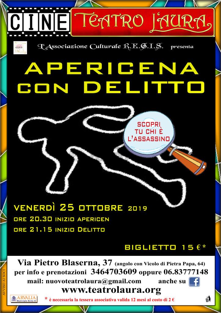 CineTeatro L'Aura – APERICENA CON DELITTO – 25 ottobre 2019