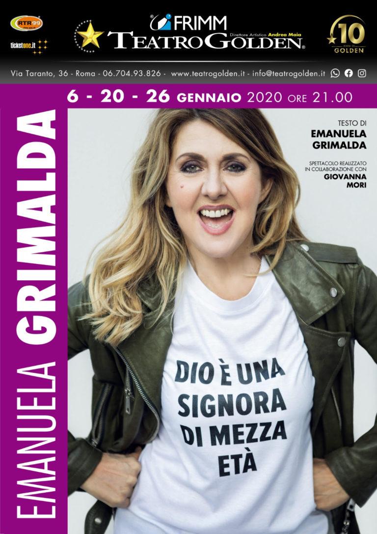 Dio è una signora di mezza età, di e con Emanuela Grimalda, al Teatro Golden di Roma