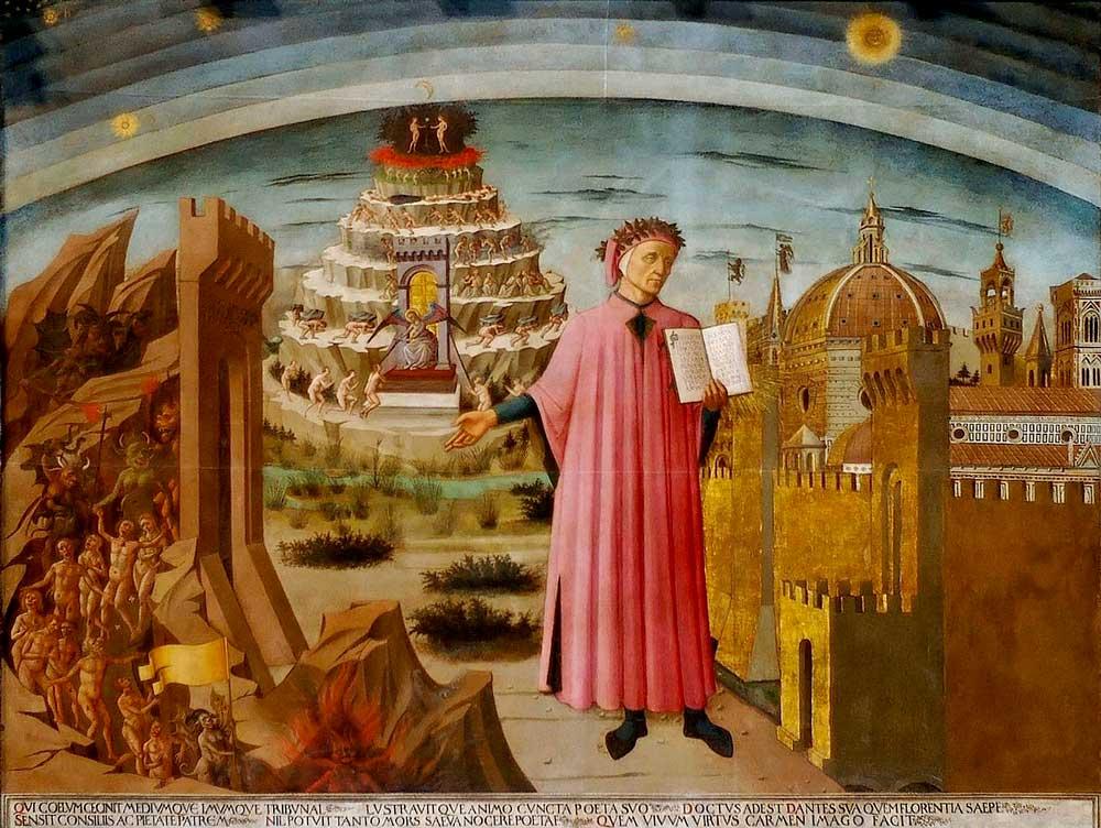 Domenico di Michelino La Divina Commedia illumina Firenze, Santa Maria del Fiore, Firenze