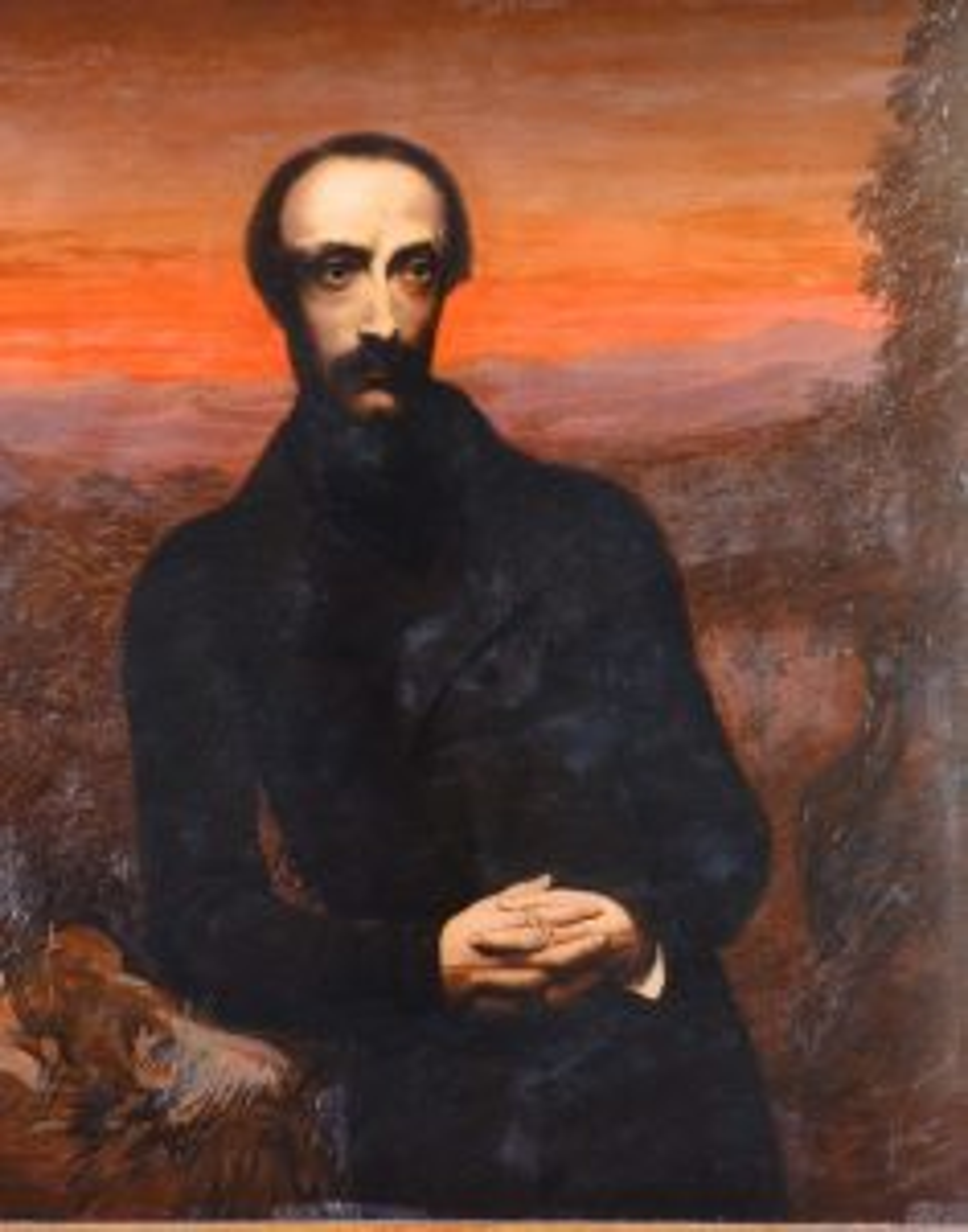 Emilie Ashurst Venturi, Giuseppe Mazzini, situato nell'appartamento di Mazzini, Museo del Risorgimento, Genova.