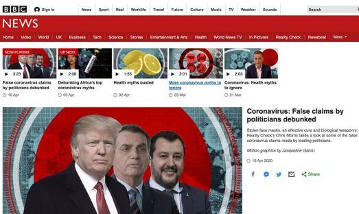 Per la BBC Trump Salvini e Bolsonaro in cima alla classifica mondiale dei politici bugiardi sul Coronavirus