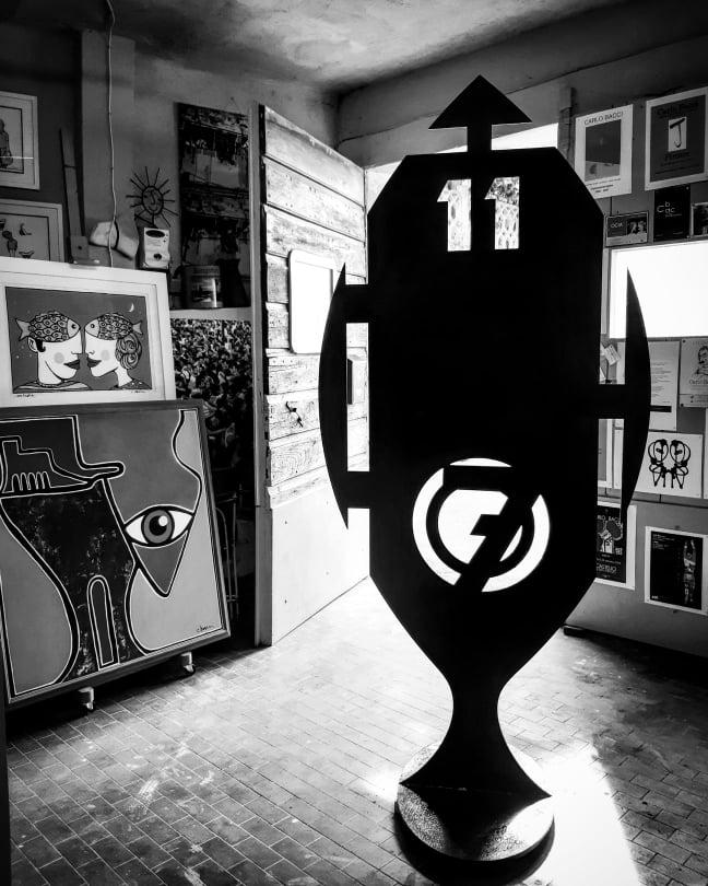 Lerici, ripristinata e ricollocata la scultura – Forma Filippo Tommaso Marinetti – di Carlo Bacci