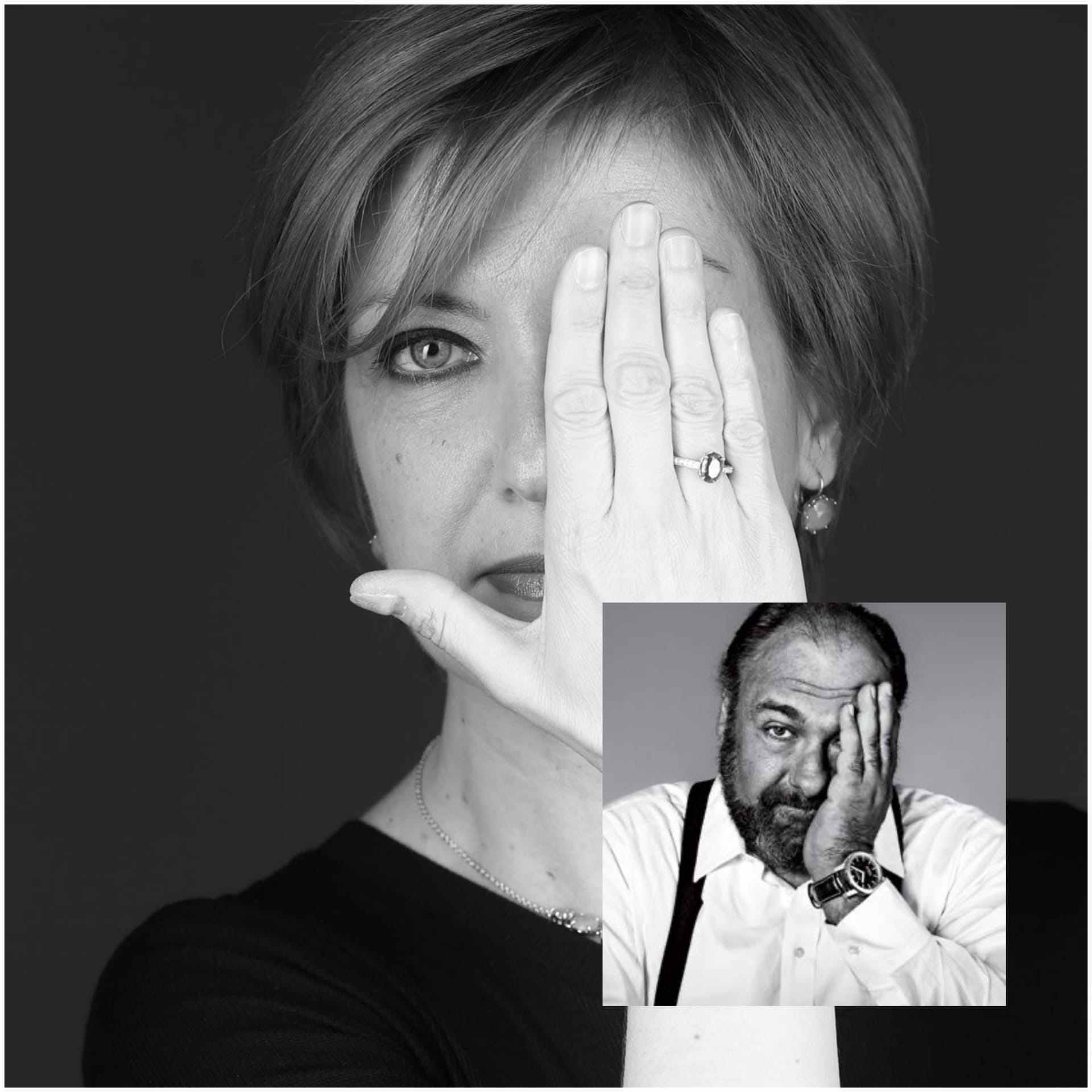 In foto: l'autrice e critica cinematografica Marzia Gandolfi (nel riquadro, l'attore James Gandolfini))
