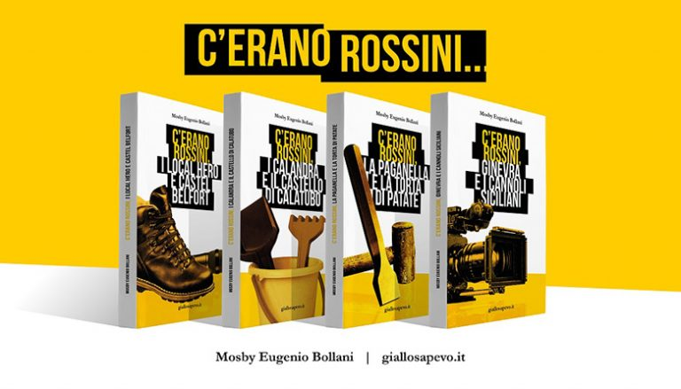 """Arriva su Amazon """"C'ERANO ROSSINI, I LOCAL HERO E CASTEL BELFORT"""" il quarto libro di MOSBY EUGENIO BOLLANI"""