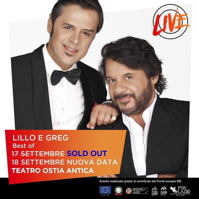Lillo & Greg: BEST OF – 17/18 Settembre al Teatro romano di Ostia Antica