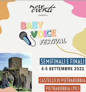 Domenica 5 settembre a Pietrarubbia si terrà la finale del Baby Voice Festival!