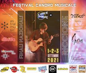 Iniziano a Riccione le fasi finali nazionali del festival internazionale A VOICE FOR EUROPE – Una voce per l'Europa!
